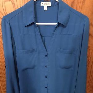 Light blue button down blouse!